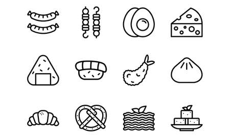 Set of Food Icons Line Style Vol 4. Enjoy this set for your project.