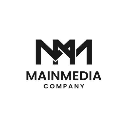 Monogram Initial Letter MM Simple Elegant Minimalist Unique Retro Vintage Logo Design
