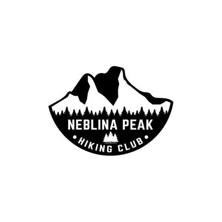 Mountain of Neblina Peak for Adventure Outdoor Hiking Camping Hunting Sport Gear Apparel Business Brand Simple Classic Unique Hipster Vintage Logo Design.