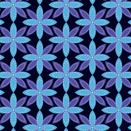 Traditional batik seamless pattern. flower motif tribal in Indonesia. flower and leaf with purple color Illustration