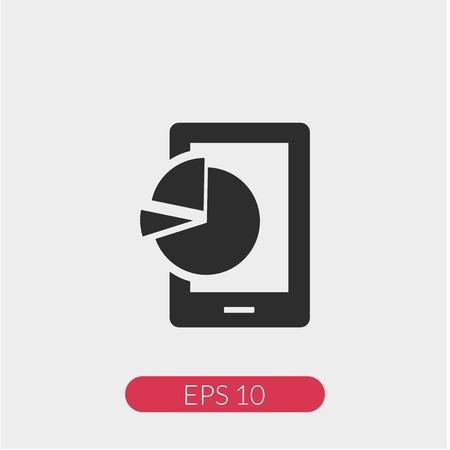 Mobile analytics vector icon