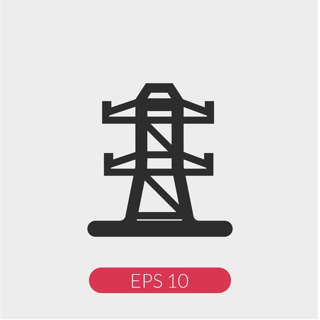 Transmission tower vector icon Illustration