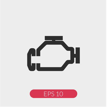 Check engine vector icon
