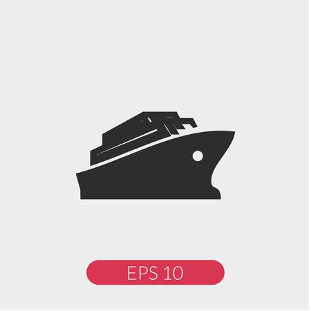 Ship vector icon Ilustração