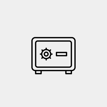 Modern line safe vector icon