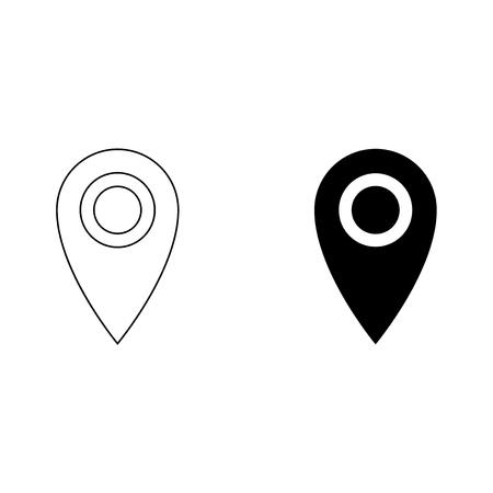 Location vector icon Vettoriali