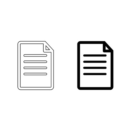 Document vector icon Illustration