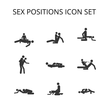 Sex Positions Vector Icon set