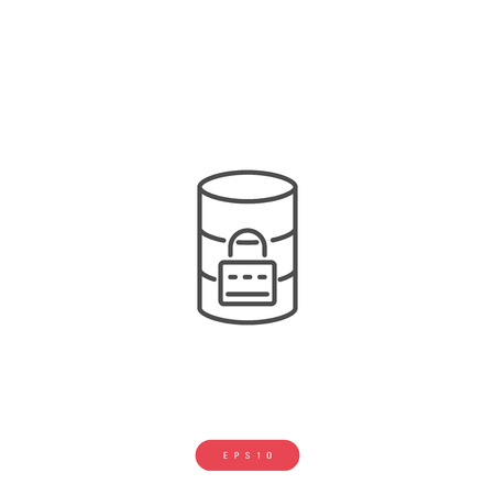 Data Security Vector Icon Business Management Related Vector Line Icon. Editable Stroke. 1000x1000 Pixel Perfect. Illustrator, EPS 10 Illusztráció