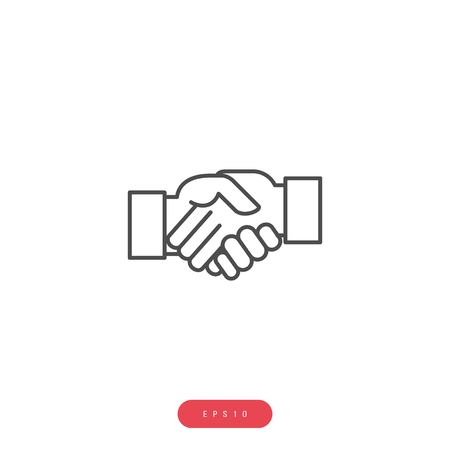 Business agreement Vector Icon Business Management Related Vector Line Icon.