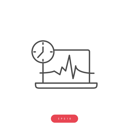 Systematic Diagnostics Vector Icon Business Management Related Vector Line Icon. Editable Stroke. 1000x1000 Pixel Perfect.