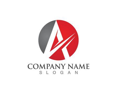Buchstabe Ein Logo-Geschäftsschablonenvektor