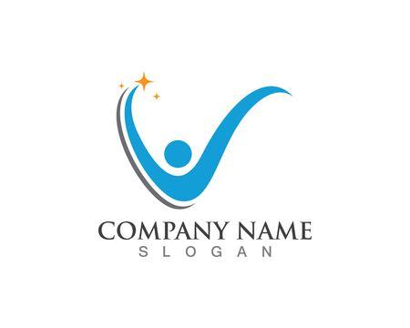 Health success people care logo and symbols template Logó