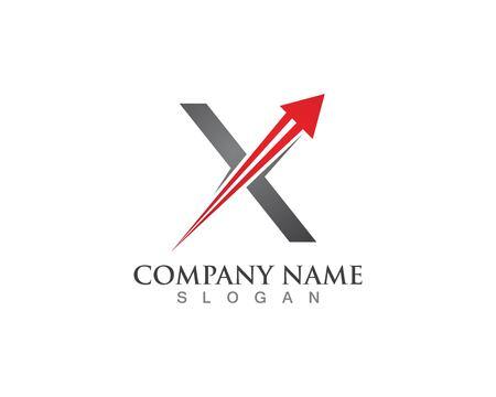 Arrow logo letter X logo design Template