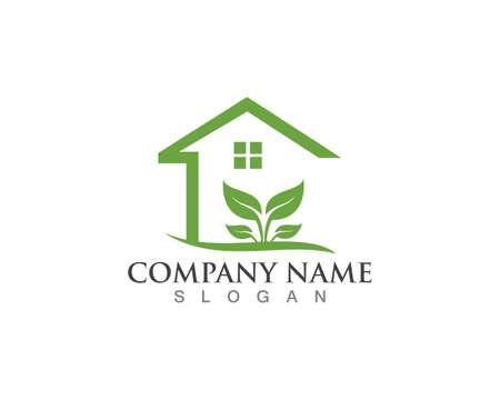 Building home nature logo design