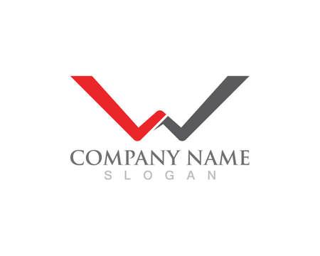 W logo business logo and symbols Ilustracja