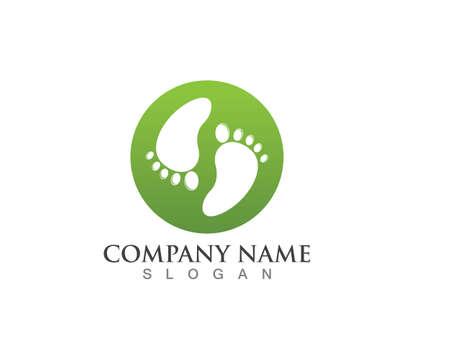 foot health logo and symbols