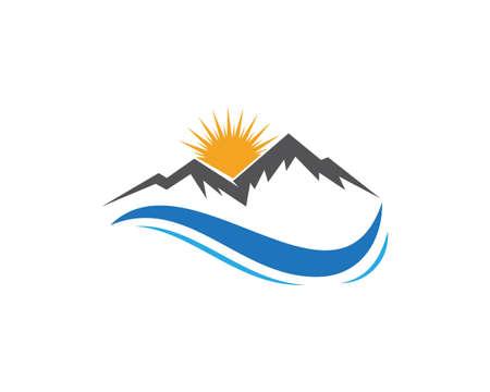 Mountain logo  BusinessTemplate icon Illustration