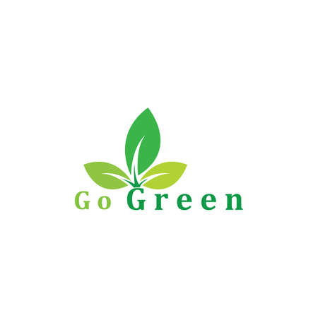 leaves green nature logo and symbol Logo