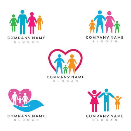 Fanilly Care Logo Template Vector Icon App