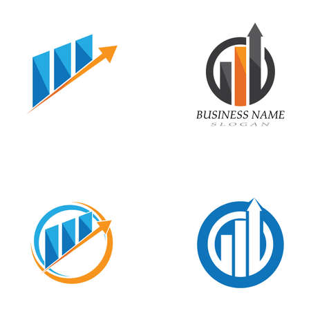Business Finance professional logo template vector Ilustrace