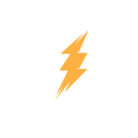 Lightning flash, electric power vector logo design element