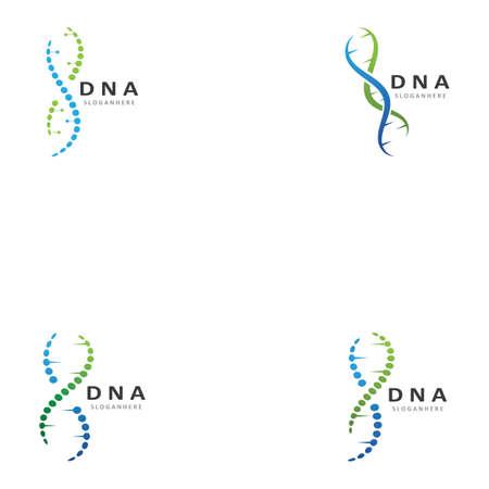 DNA logo template vector