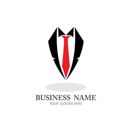 Tuxedo Man Logo Design Template Vector Icon Vectores