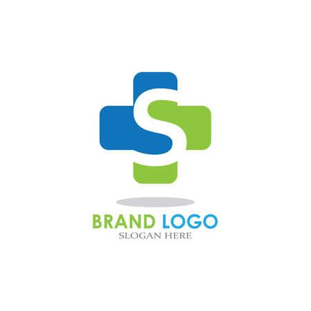 letter with Plus Hospital logo design vector