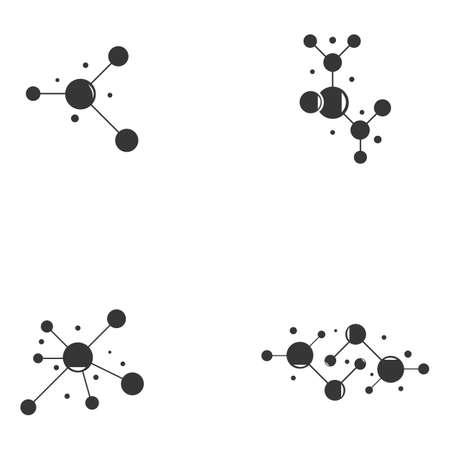 Molecule vector icon illustration design