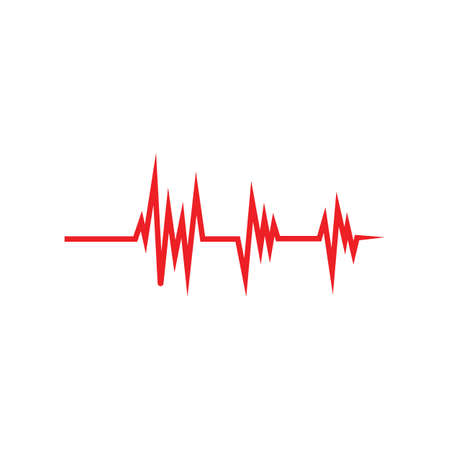 Art design health medical heartbeat pulse icon illustration