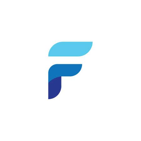 F Letter Wave Logo Template vector symbol