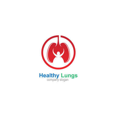 Healthy Lung Logo Template Design Vector, Emblem, Design Concept, Creative Symbol, Icon