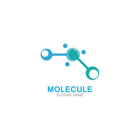DNA Molecule atom logo abstract technology design vector