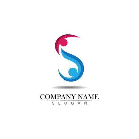 Family care s logo sign illustration vector design