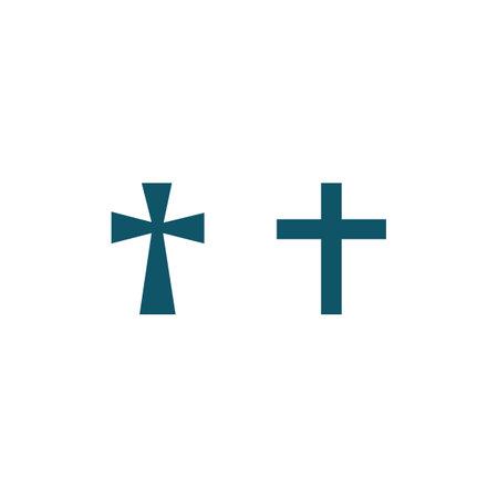 Church logo template design vector illustration