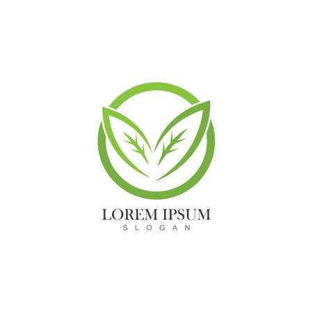 Nature leaf icon logo vector template Logo