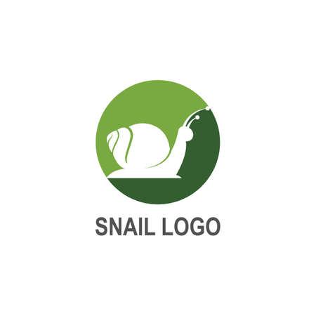 Snail logo creative template vector icon illustration design