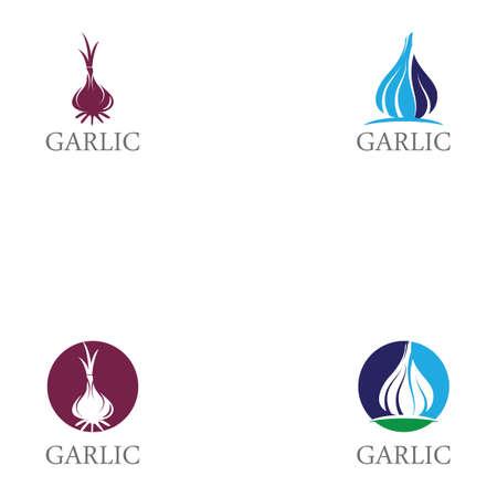 Garlic logo icon symbol design vector illustration