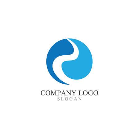 R Letter River Logo Template Vector Illustration Logo