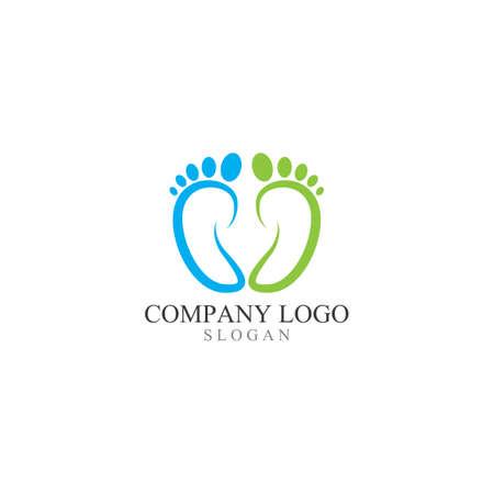 Foot print logo and symbol vector