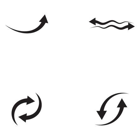 Performance target Arrows vector illustration icon Logo Template design Logó
