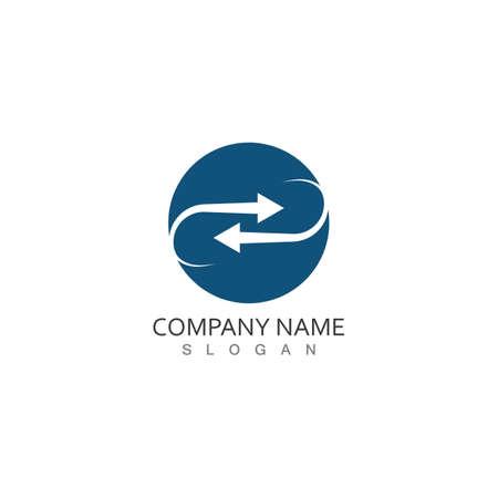 Performance target Arrows vector illustration icon Logo Template design