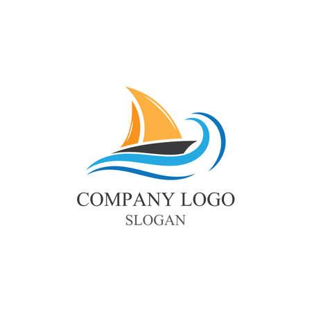 Traditional Sailboat logo design vector