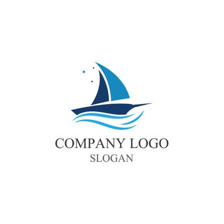 Traditional Sailboat logo design vector Logo