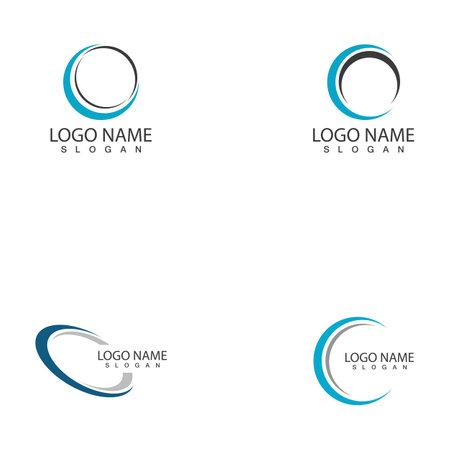 Technology circle logo and symbols Vector Logo