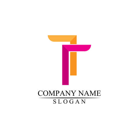 T letter, T logo vector font alphabet design and icon T logo for business and corporate