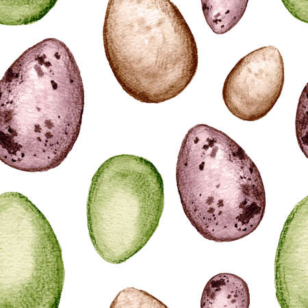 Easter seamless pattern with easter elements in natural colors