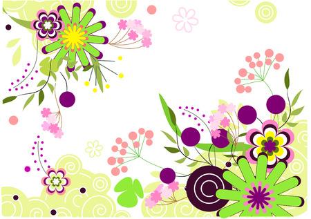 Vector floral abstract postcard Stock Vector - 5989241