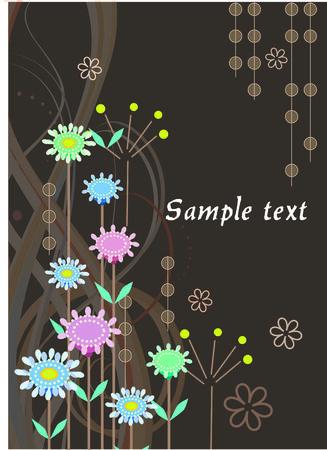 Vector floral abstract postcard Stock Vector - 5989260